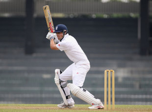 Alastair Cook hit an unbeaten 163 in England's warm-up match, Sri Lanka Board XI v England XI, Colombo, March 16, 2012