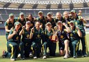 Australia Women celebrate their series victory, India Women v Australia Women, 3rd ODI, Wankhede Stadium, Mumbai, March 16, 2012