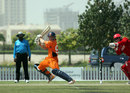 Stephan Myburgh plays a shot square of the wicket on his way to fifty, Denmark v Netherlands, ICC World Twenty20 Qualifier, Dubai, March 16, 2012