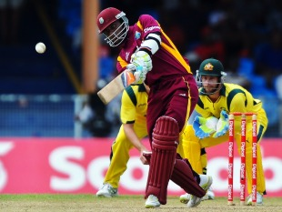 Marlon Samuels hits Xavier Doherty for six, West Indies v Australia, 1st ODI, St Vincent, March 16, 2012