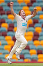 Alister McDermott finished with six wickets, Queensland v Tasmania, Sheffield Shield Final, 2nd day, Brisbane, March 17 2012
