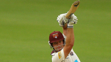 James Hopes drives on his way to a half-century