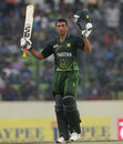 Younis Khan acknowledges applause for his half-century
