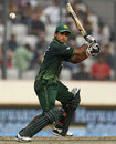 Mohammad Hafeez plays a cut