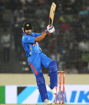 Virat Kohli swivels into a pull, India v Pakistan, Asia Cup, Mirpur, March 18, 2012