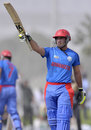 Samiullah Shenwari celebrates his half-century, Canada v Afghanistan, ICC World Twenty20 qualifier, Dubai, March 18, 2012
