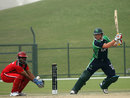 Gary Wilson cuts on his way to a half-century, Italy v Scotland, ICC World Twenty20 Qualifier, Dubai, March 19, 2012