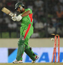 Nazimuddin is bowled, Bangladesh v Sri Lanka, Asia Cup, Mirpur, March 20, 2012