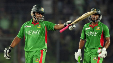 Tamim Iqbal reaches his third consecutive ODI half-century