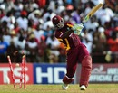 Andre Russell is bowled off a no-ball