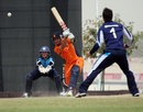 Tom Cooper drives during his innings of 60, Netherlands v Scotland, World Twenty20 Qualifier, Dubai, March 22, 2012