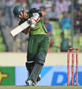 Hammad Azam swings across the line, Bangladesh v Pakistan, Asia Cup final, Mirpur, March 22, 2012