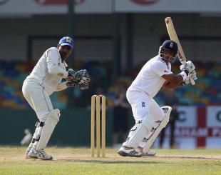 Samit Patel played several attacking strokes during his innings, Sri Lanka Development XI v England XI, 3rd day, Colombo, March 22, 2012