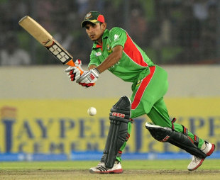 Nasir Hossain works one to the leg side, Bangladesh v Pakistan, Asia Cup final, Mirpur, March 22, 2012