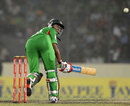 Shakib Al Hasan scoops one over short fine leg, Bangladesh v Pakistan, Asia Cup final, Mirpur, March 22, 2012