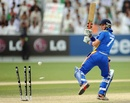 Gerhard Erasmus was bowled by Aftab Alam, Afghanistan v Namibia, ICC World Twenty20 Qualifier, Dubai, March 22, 2012