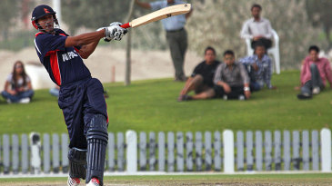 Paras Khadka pulls on his way to half-century