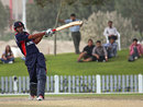 Paras Khadka pulls on his way to half-century, Nepal v Papua New Guinea, ICC World Twenty20 Qualifier, seventh-place playoff, Dubai, March 23, 2012