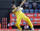 Brett Lee attacks during his half-century, West Indies v Australia, 4th ODI, Gros Islet, March 23, 2012