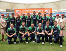 The Ireland team after beating Namibia to make the World Twenty20, Ireland v Namibia, ICC World Twenty20 Qualifier, preliminary final, Dubai, March 24, 2012