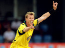 Brett Lee took 3 for 42, West Indies v Australia, 5th ODI, St Lucia, March 25, 2012