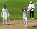 Vernon Philander celebrates a wicket