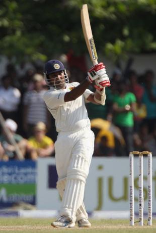 Mahela Jayawardene goes over midwicket, Sri Lanka v England, 1st Test, Galle, 1st day, March 26, 2012