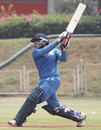 Kedar Devdhar hits out during his 96, Baroda v Delhi, Syed Mushtaq Ali Trophy, 1st semi-final, Mumbai, March 26, 2012