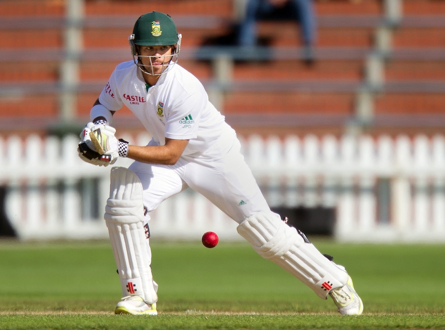 JP Duminy plays the ball on the off side