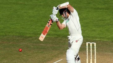 Kane Williamson plays off the back foot