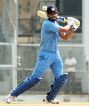 Yusuf Pathan plays one square on the off side, Baroda v Punjab, Syed Mushtaq Ali Trophy final, Mumbai, March 27, 2012