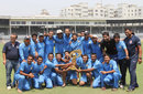Baroda pose with the trophy, Baroda v Punjab, Syed Mushtaq Ali Trophy final, Mumbai, March 27, 2012