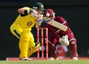 Michael Hussey pushes to the off side