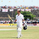 Jonathan Trott walks off after being dismissed for 112