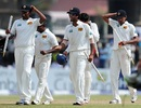 Chanaka Welegedara, Dinesh Chandimal and Suraj Randiv leave with souvenirs, Sri Lanka v England, 1st Test, Galle, 4th day, March 29, 2012