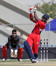 Bermuda's Kamau Leverock is bowled by Irfan Ahmed during the Group A, ICC World Twenty20 Qualifier match between Hong Kong and Bermuda played at the ICC GCA2 ground in Dubai on 14th March 2012