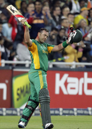 Jacques Kallis acknowledges the applause as he walks back, South Africa v India, Only T20I, Johannesburg, March 30, 2012