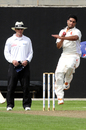 Mudassar Bukhari runs in to bowl, Afghanistan v Netherlands, Intercontinental Cup, Sharjah, 1st day, April 2, 2012