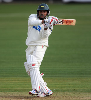 Ramnaresh Sarwan hooks on his way to 41, Leicestershire v Glamorgan, County Championship, Leicester, Grace Road, 1st day, March 5, 2012