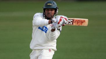 Ramnaresh Sarwan hooks on his way to 41