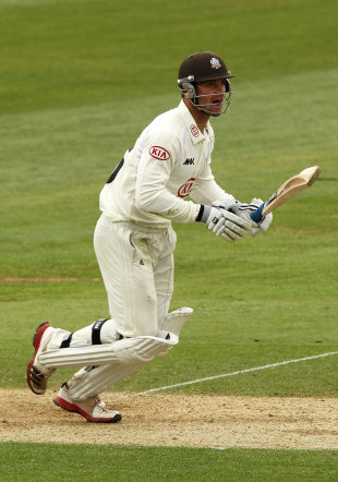 Tom Maynard top-scored for Surrey with an unbeaten 86, Surrey v Sussex, County Championship, London, The Oval, 1st day, March 5, 2012