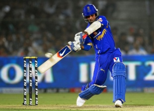 Ajinkya Rahane scored 98 off 66 balls, Rajasthan Royals v Kings XI Punjab, IPL, Jaipur, April 6, 2012