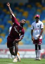 Fidel Edwards in delivery stride