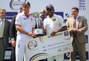 Andrew Strauss and Mahela Jayawardene share the trophy after the series ended 1-1, Sri Lanka v England, 2nd Test, Colombo, P Sara Oval, 5th day, April 7, 2012