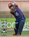 Aaron Finch drives, Royal Challengers Bangalore v Delhi Daredevils, IPL 2012, Bangalore, April 7, 2012