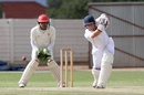 Namibia batsman Ian Opperman in action