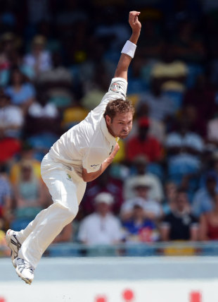 Ryan Harris opened the bowling after Australia lost the toss, West Indies v Australia, 1st Test, Barbados, 1st Day, April, 7, 2012