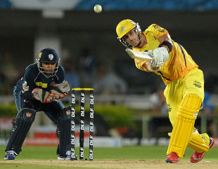 Faf du Plessis provided Chennai Super Kings a boost at the start, Chargers v Super Kings, IPL 2012, Visakhapatnam, April 7, 2012