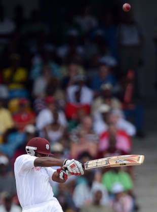 Adrian Barath plays the top-edged hook that brought his downfall, West Indies v Australia, 1st Test, Barbados, 1st day, April, 7, 2012