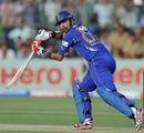 Ashok Menaria scored 40 in a crucial stand with Brad Hodge, Rajasthan Royals v Kolkata Knight Riders, IPL, Jaipur, April 8, 2012